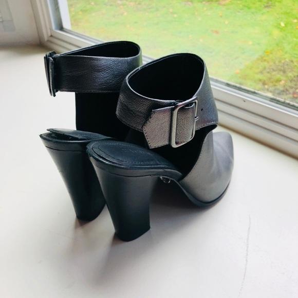 Silver Pour La Victoire open back strap heels
